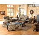 Catnapper Voyager Lay Flat Reclining Sofa with Fold Down MiddleTable - 43845 1228-49-1328-49