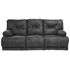 "Catnapper Voyager ""Lay Flat"" Reclining Sofa and Table"