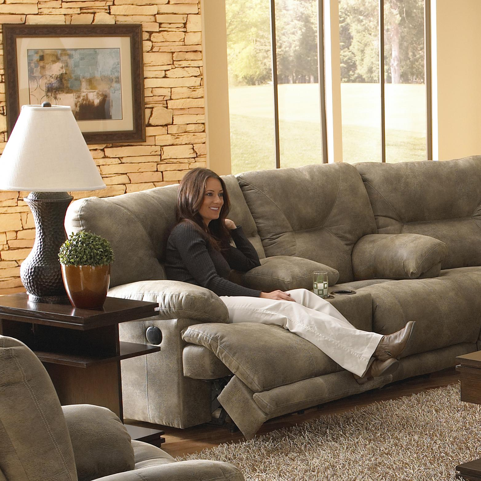 Catnapper Voyager 4389 2 Seat Quot Lay Flat Quot Reclining Console