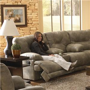 "Catnapper Voyager POWER ""Lay Flat"" Reclining Console Loveseat"