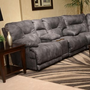 "Catnapper Voyager ""Lay Flat"" Reclining Console Loveseat"