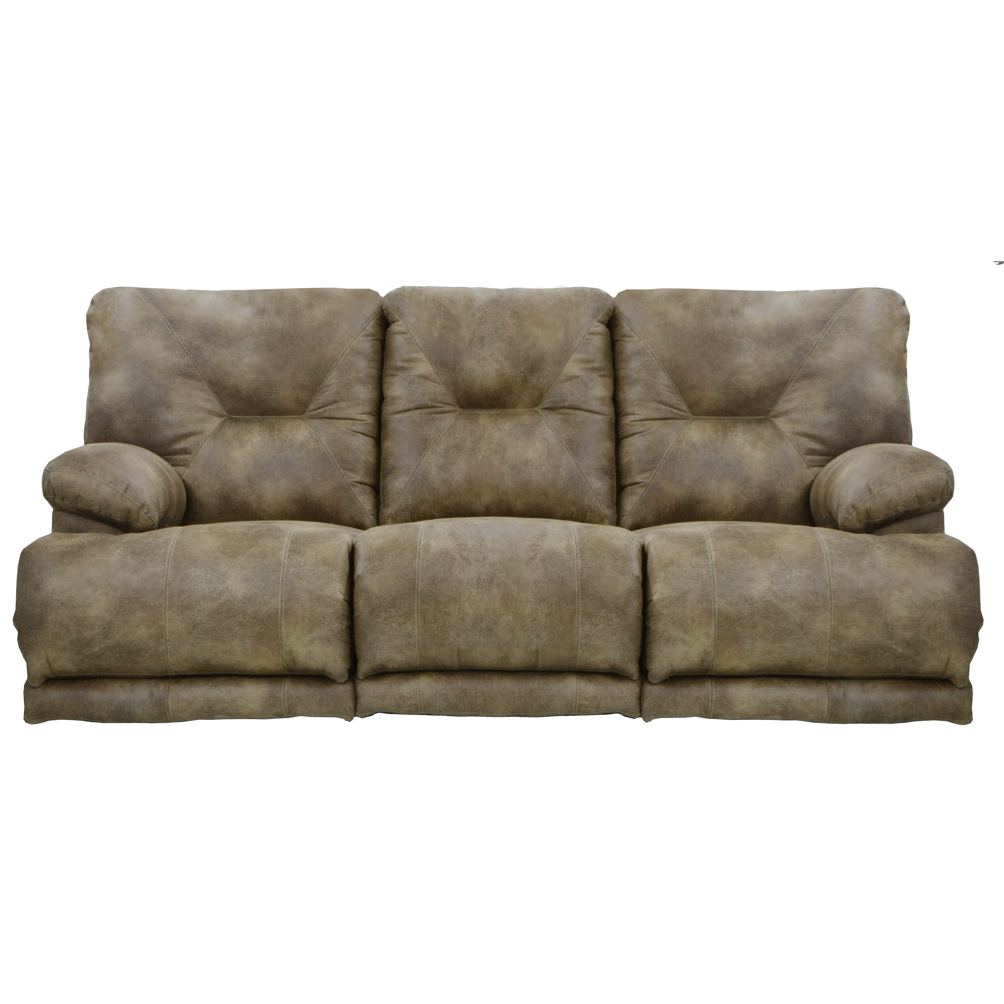 Catnapper Voyager 643845 Power 3 Seat Lay Flat Reclining Sofa With