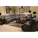 Catnapper Voyager Power Lay Flat Reclining Sectional Seating - Item Number: 643845+88+89-1228-53-1328-53
