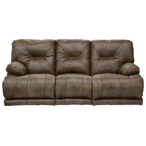 """Catnapper Voyager POWER """"Lay Flat"""" Reclining Sofa and Table"""