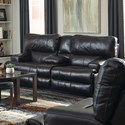 Catnapper Wembley Power Lay Flat Reclining Console Loveseat - Item Number: 764589-1283-09-3083-09