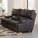 Catnapper Wembley Power Lay Flat Reclining Console Loveseat - Item Number: 764589-1283-28-3083-28