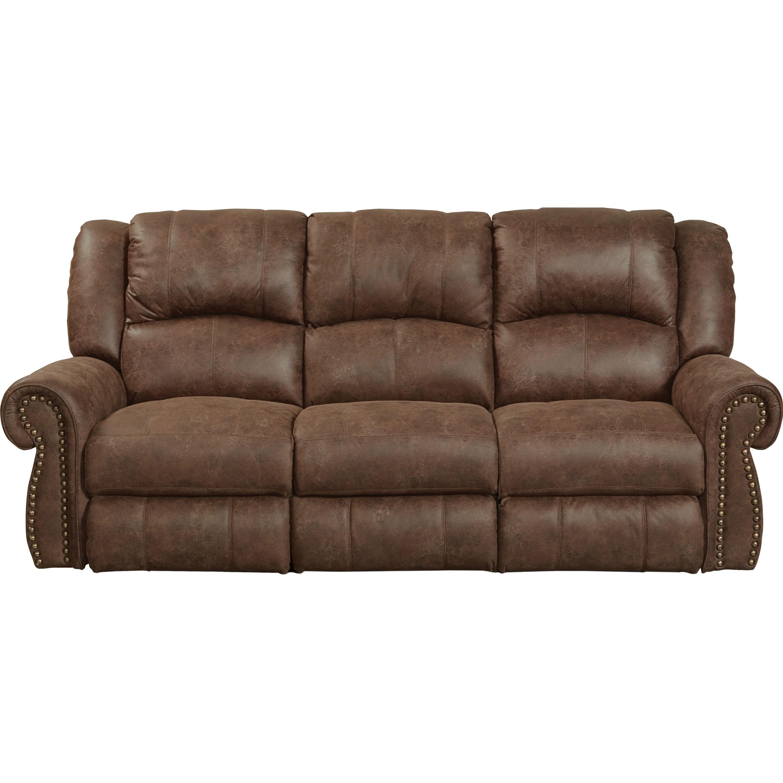 Catnapper Westin Reclining Sofa With Nailhead Trim Lindy