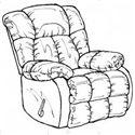 Catnapper Laredo 4609 Casual Style Chaise Rocker Recliner