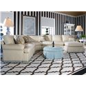 Century 2000 Eight Step Custom Customizable Sectional Sofa - Item Number: 20-21+2x20+73+62