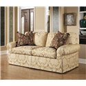 Century 2000 Eight Step Custom Multiple Length Customizable Sofa - Shown in 80 Inches, with a Straight Cushion Upholstered Waterfall Base