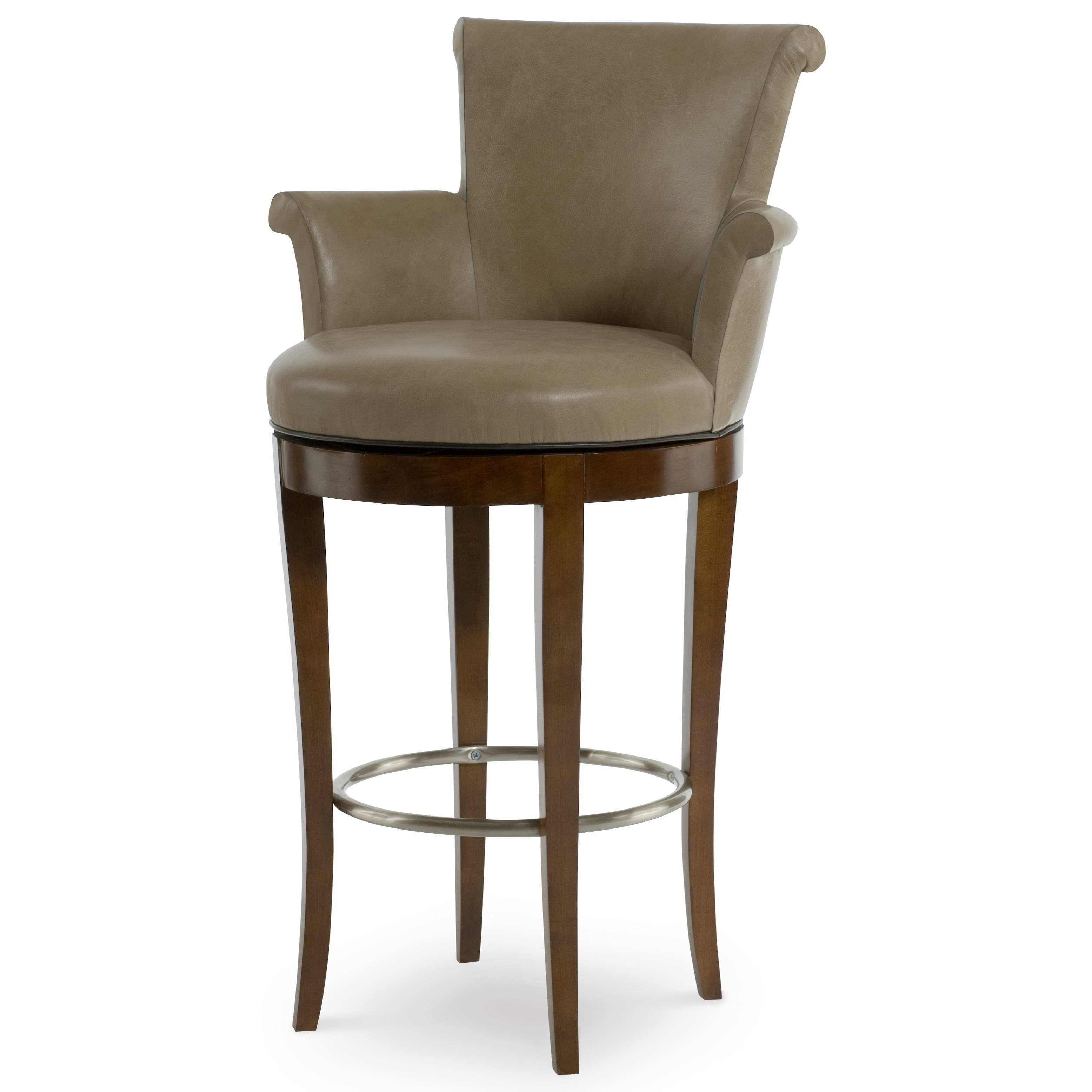 3800B-3 Scroll Swivel Bar Stool by Century at Jacksonville Furniture Mart