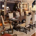 Century Bob Timberlake  Buck's Upholstered Dining Arm Chair - Shown with Dining Table & Side Chairs