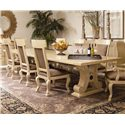 Century Caravelle Rectangular Dining Table w/ Stretcher - 832-302