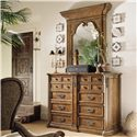 Century Casual Classics Catalonia Dresser Mirror - 581-231 - Shown with the Adelaide Master Chest
