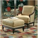 Century Century Chair Casual Century Metro Chair with Contemporary Coastal Theme - Shown with Coordinating Collection Ottoman