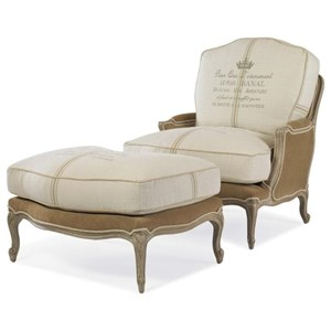Grand Bergere Chair and Ottoman