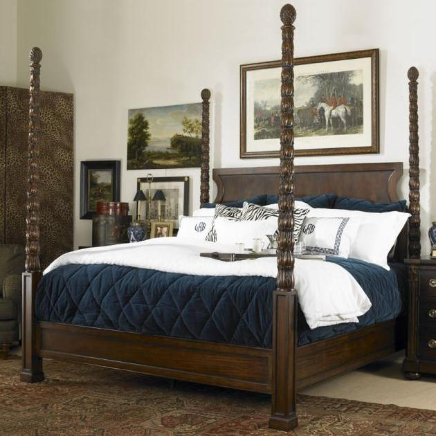 Chelsea Club King Poster Bed by Century at Baer's Furniture