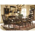Century Chelsea Club Godfrey Rectangle Leg Dining Table - Shown with Side Chairs, Arm Chairs, and Book Shelf