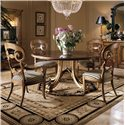 Century Consulate Hortense Round Dining Table and Chair Set - Item Number: 59-306+2x542+2x541