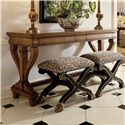 Century Consulate Regency Bench - Shown as Set with Console Table