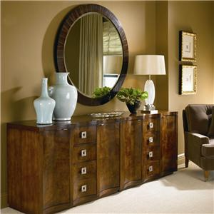 Century Omni Pair of Chests and Ebonized Mirror