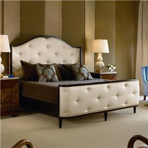 Century Omni Bed with Upholstered Headboard and Footboard