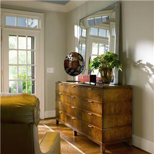 Century Omni Dresser and Metal Frame Mirror