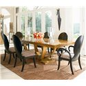 Century Omni Dining Table, Arm Chair and Side Chair Set - Item Number: 559-303+2X55E-512+4x55E-511