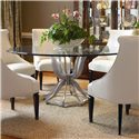 Century Omni Metal Base Dining Table with Glass Top - Item Number: 55A-307