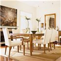 Century Century Classics Dining Side Chair - Shown as Set with Extension Dining Table and Two Dining Arm Chairs.