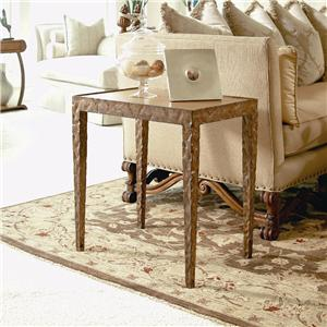 Century Century Classics Metal Chairside Table with Leather Insert