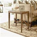 Century Century Classics Metal Chairside Table with Leather Insert  - Item Number: 65A-623