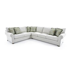 Customizable Sectional Sofa with Lawson Arms