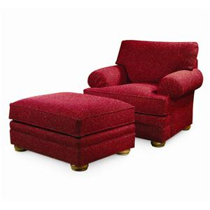 Century Cornerstone  <b>Customizable</b> Chair and Ottoman Set