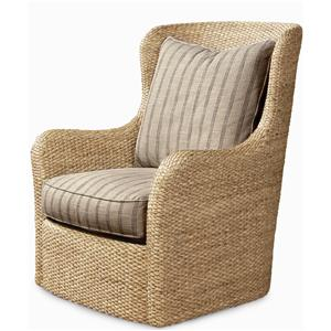 Century Elegance  Water Hyacinth Swivel Chair