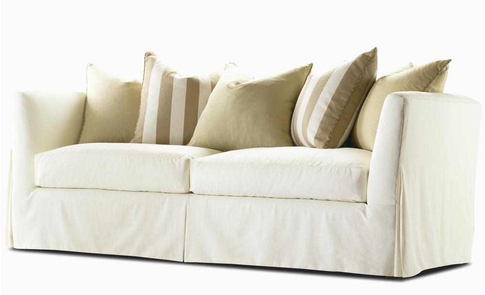 Century Elegance Stationary Skirted Sofa With Track Arm