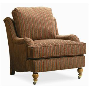 Century Elegance  Upholstered Chair with Casters
