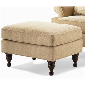Century Elegance  Ottoman with Turned Feet