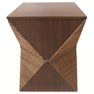 Century Lanna Home Brown Cubista Stool