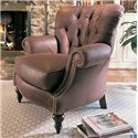 Century Leather Upholstery Oxford Chair - Item Number: LR-18024