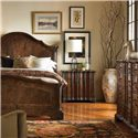 Century Marbella 661 Queen Size Lucera Mahogany Bed  - Shown with Three Drawer Mateo Dresser and Eight Drawer Anselmo Dresser. Bed Shown May Not Represent Size Indicated.