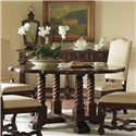 Century Marbella 661 Round Alba Dining Table - Shown with Nevara Side Chairs and Four Drawer Gema Console Table