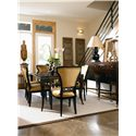 Century Metro Lux Table and Chair Combo - Item Number: 819-301+521+522