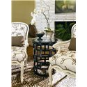 Century Metro Lux Chairside Table with Glass Insert Top