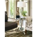 Century Metro Lux Mirrored Glass Chairside Table