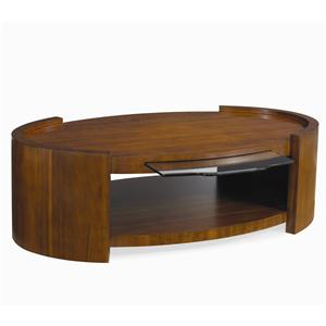 Century Milan Cocktail Table with Glass Pull Out Tray