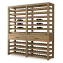 Century Monarch Fine Furniture 2 Drawer Solid Oak Wine Storage Console  - Shown with Dry Creek Winemaker\'s Cabinet Deck