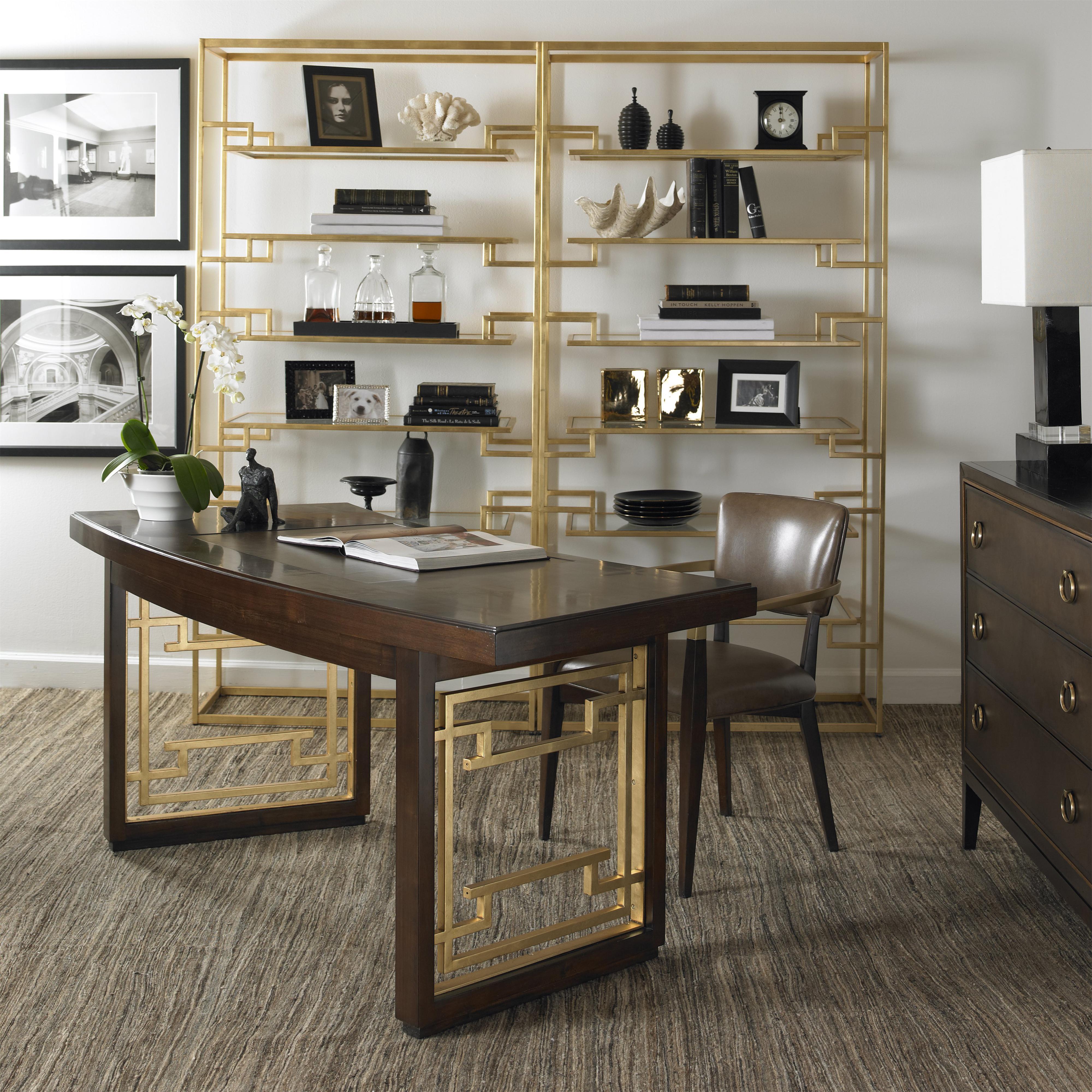 Fine Furniture Desks: Century Monarch Fine Furniture Elton Desk With Leather