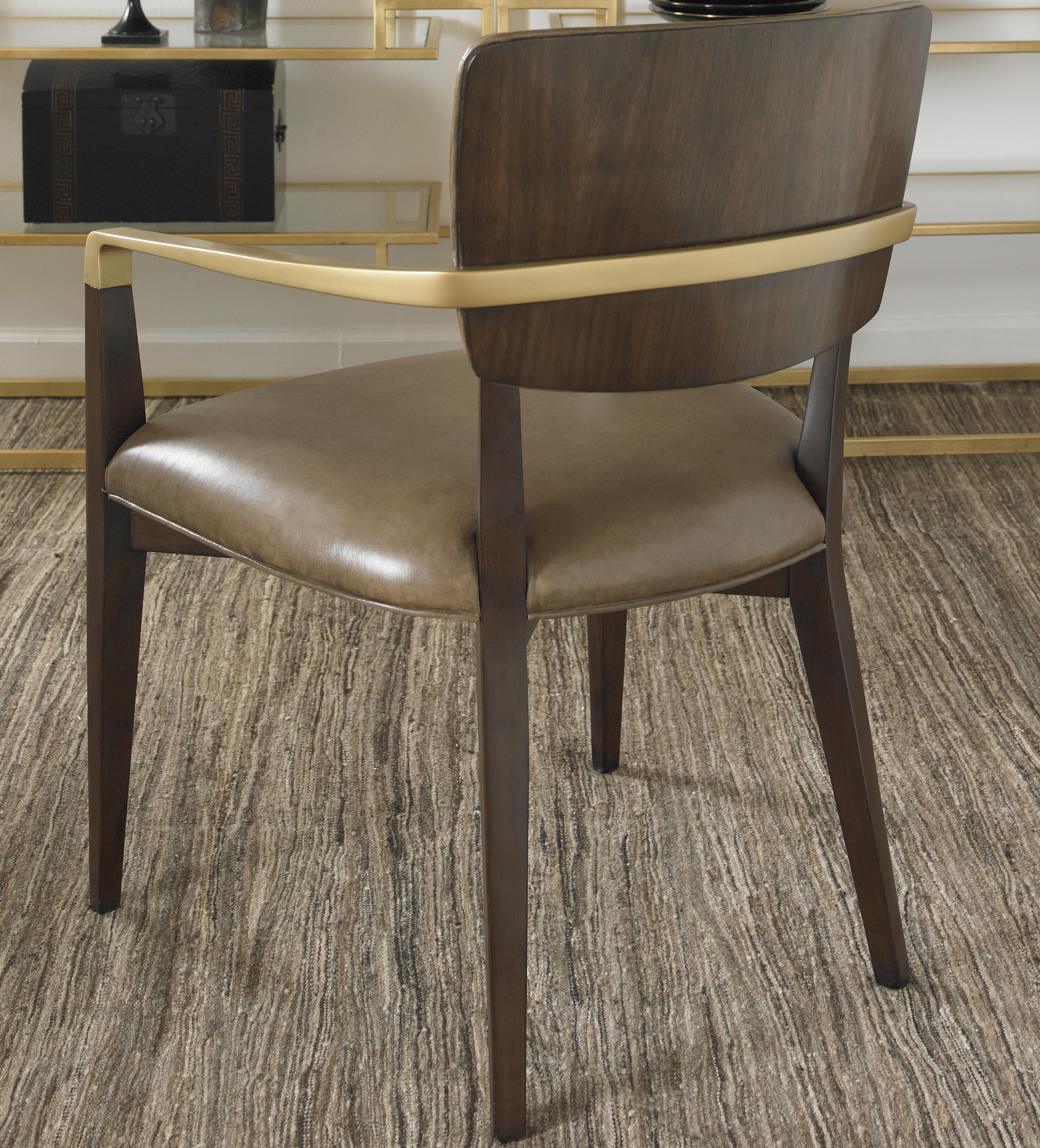 Century Monarch Fine Furniture Mn5588 Elton Desk Chair With Antique Brass Finish Metal