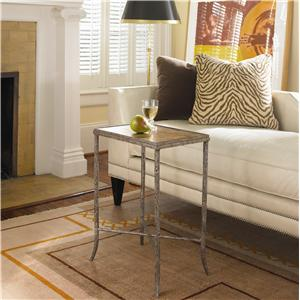 Century New Traditional Metal Chairside Table